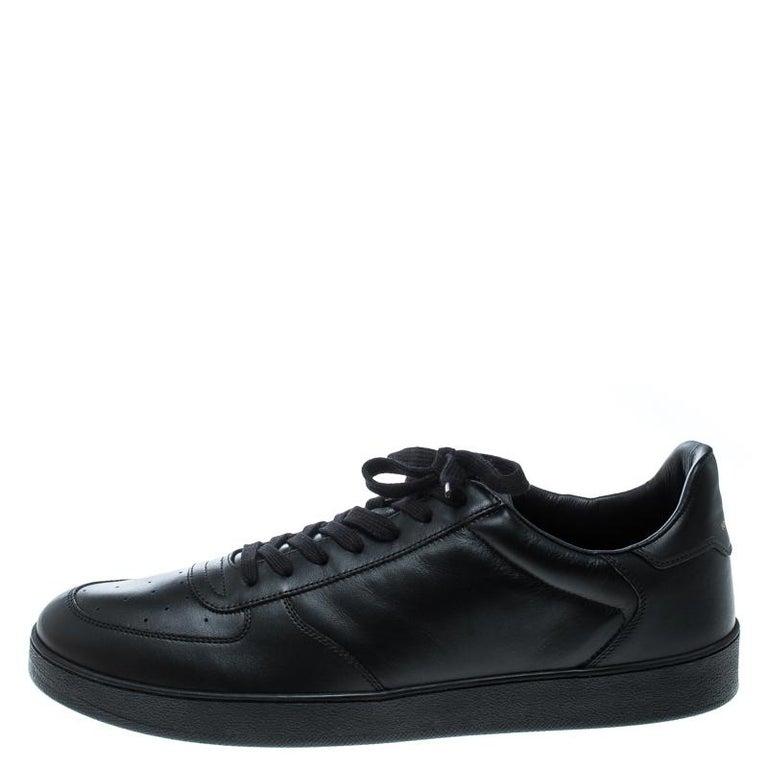Louis Vuitton Black Leather Rivoli Sneakers Size 43 1