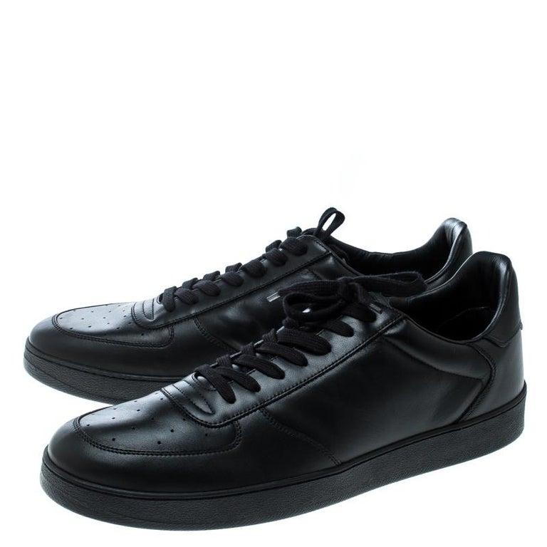 Louis Vuitton Black Leather Rivoli Sneakers Size 43 3