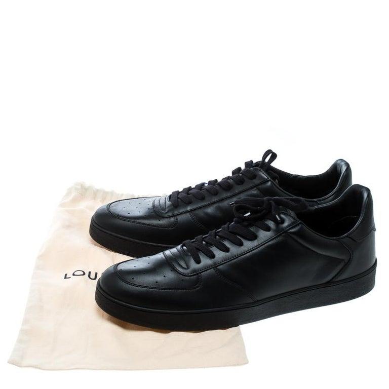 Louis Vuitton Black Leather Rivoli Sneakers Size 43 4