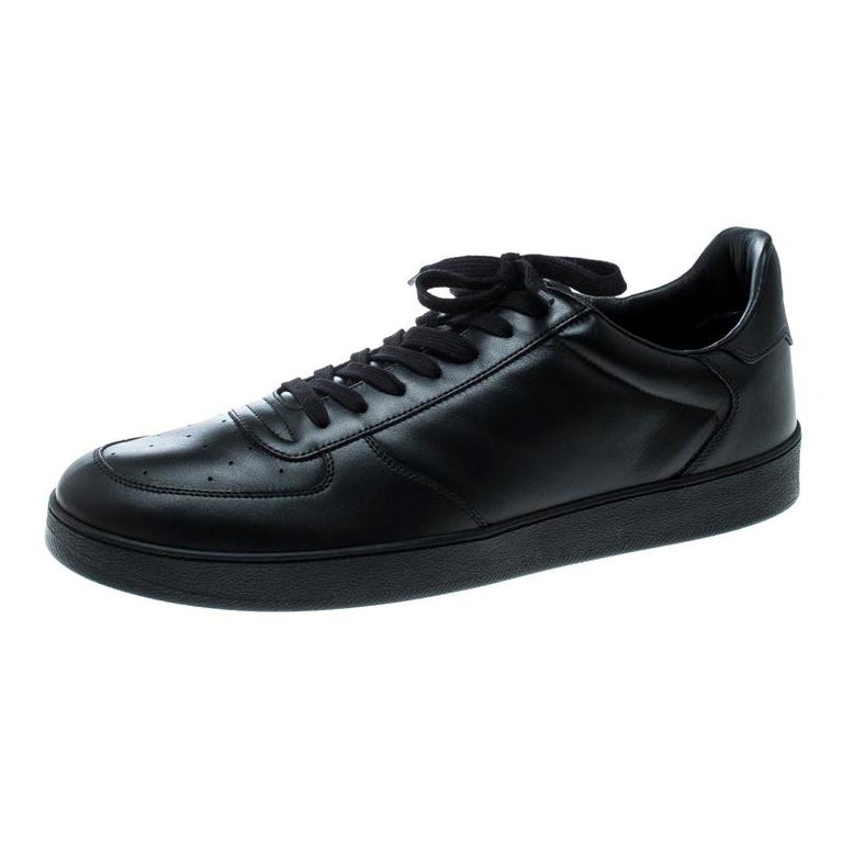 Louis Vuitton Black Leather Rivoli Sneakers Size 43