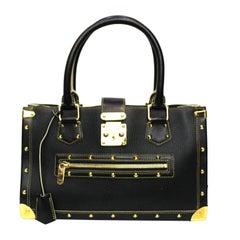 Louis Vuitton Black Leather Suhali le Fabuleaux Bag