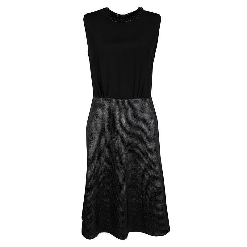 Louis Vuitton Dress Black Monogram Lace Detail 36 4 Nwt For Sale