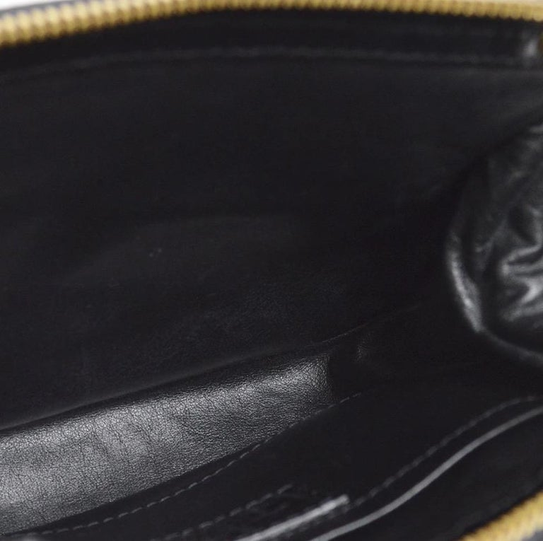 Louis Vuitton Black Leather Velvet Gold Chain Top Handle Satchel Shoulder Bag 2