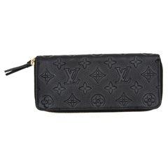 Louis Vuitton Black Logo Zippy Wallet
