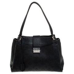 Louis Vuitton Black Mahina Leather Sevres Shoulder Bag