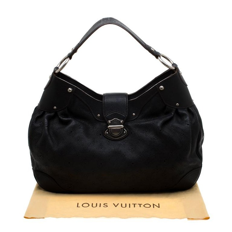 Louis Vuitton Black Mahina Leather Solar GM Bag 8