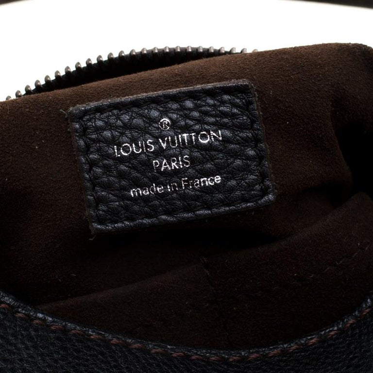 Louis Vuitton Black Mahina Leather Solar GM Bag 3