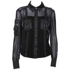 Louis Vuitton Black Mesh Button Front Shirt L