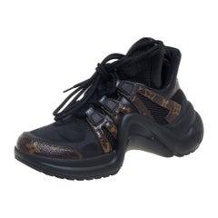 Louis Vuitton Black Monogram Canvas And Mesh Archlight Sneakers Size 36