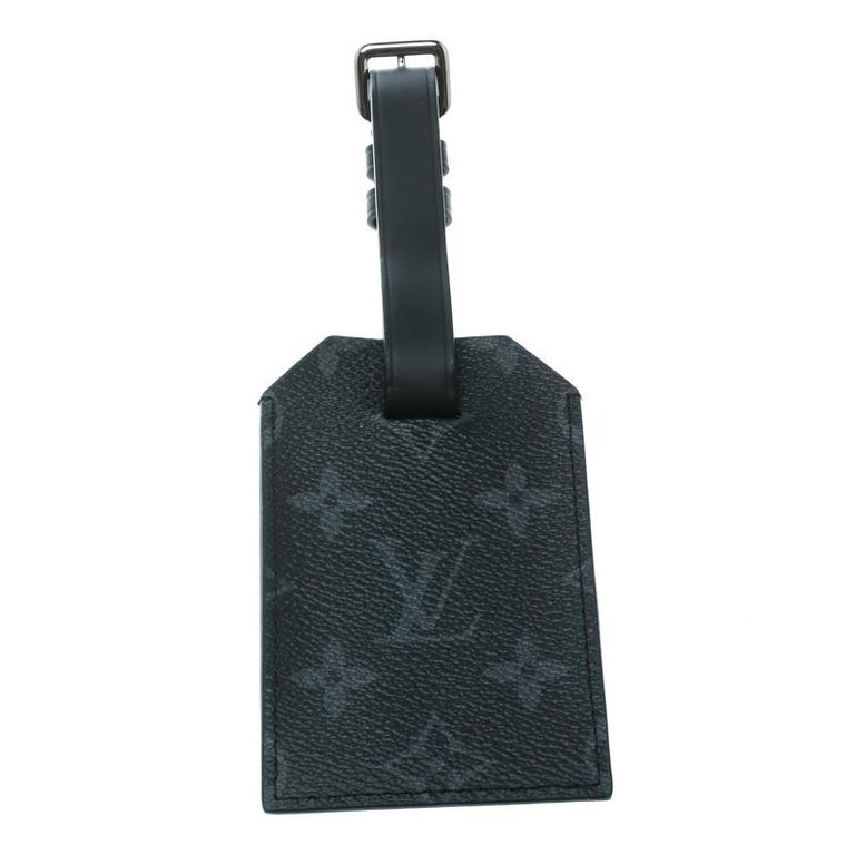 Louis Vuitton Black Monogram Eclipse Chapman Brothers Luggage Tag In New Condition For Sale In Dubai, Al Qouz 2