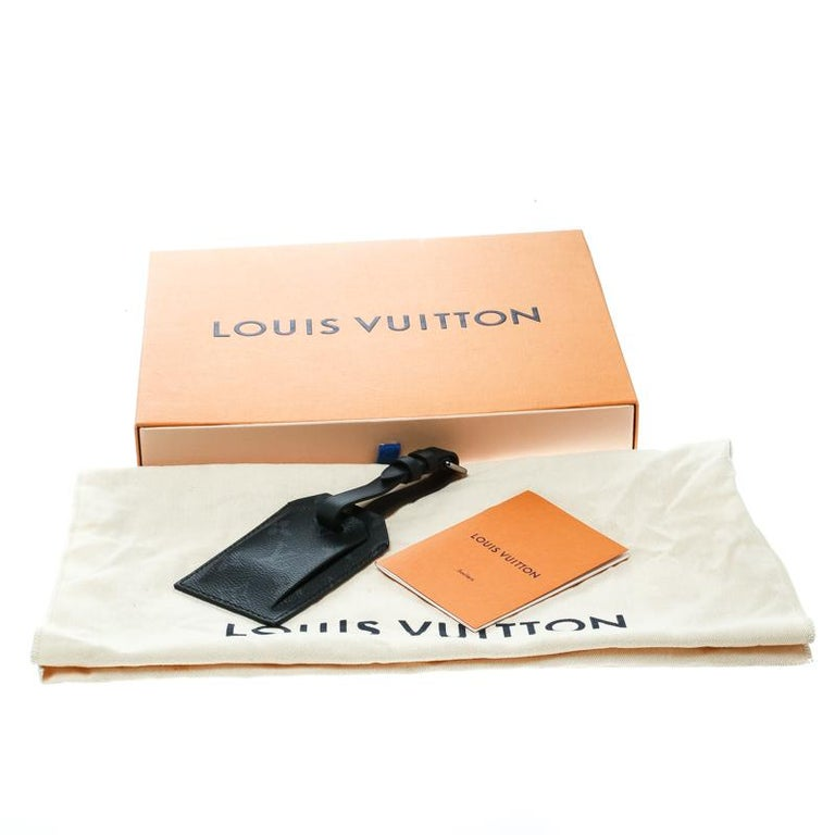 Louis Vuitton Black Monogram Eclipse Chapman Brothers Luggage Tag For Sale 1