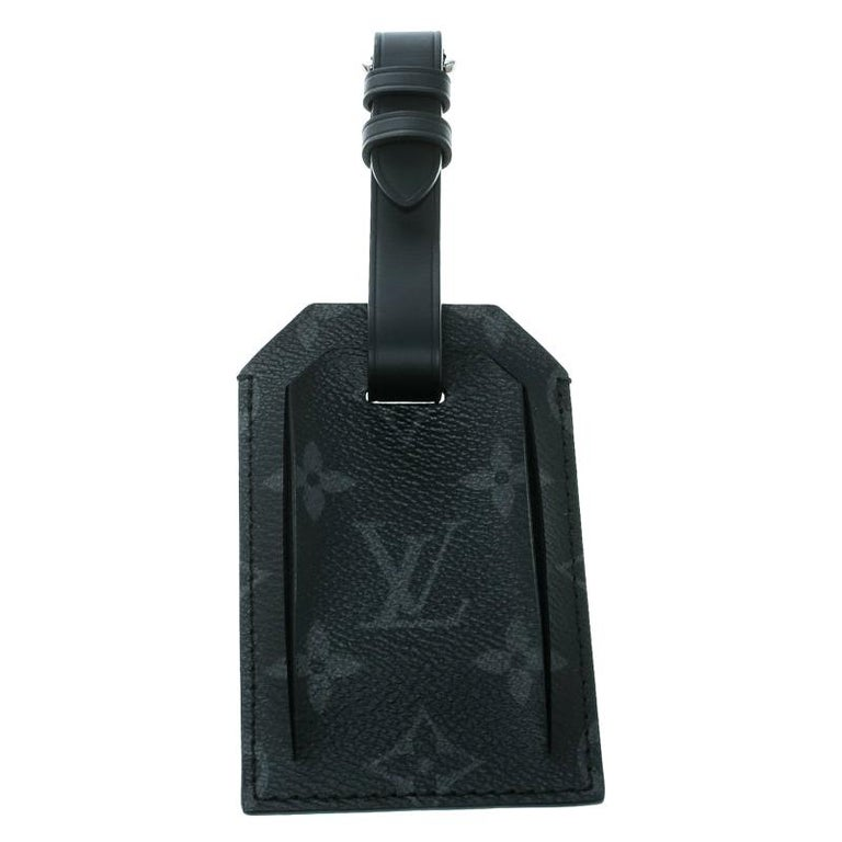 Louis Vuitton Black Monogram Eclipse Chapman Brothers Luggage Tag For Sale