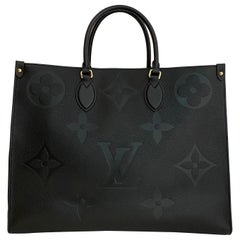 Louis Vuitton Black Monogram Empreinte Leather Giant Onthego GM Tote Bag
