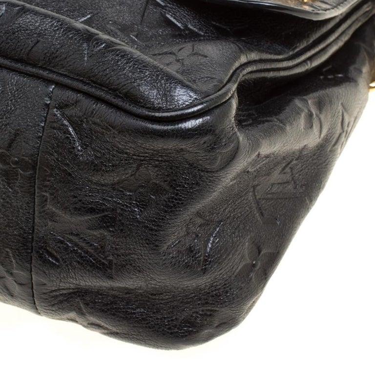 Louis Vuitton Black Monogram Empreinte Leather Rubel Shoulder Bag For Sale 6