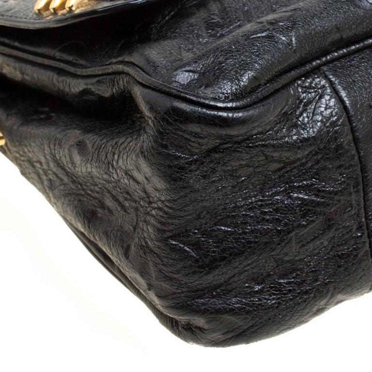 Louis Vuitton Black Monogram Empreinte Leather Rubel Shoulder Bag For Sale 7