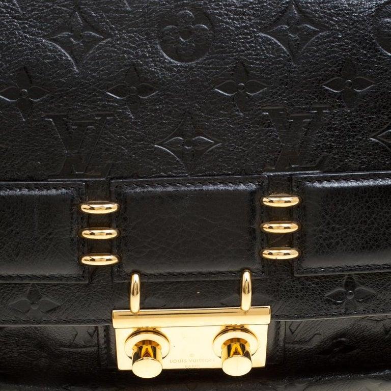 Louis Vuitton Black Monogram Empreinte Leather Rubel Shoulder Bag For Sale 8