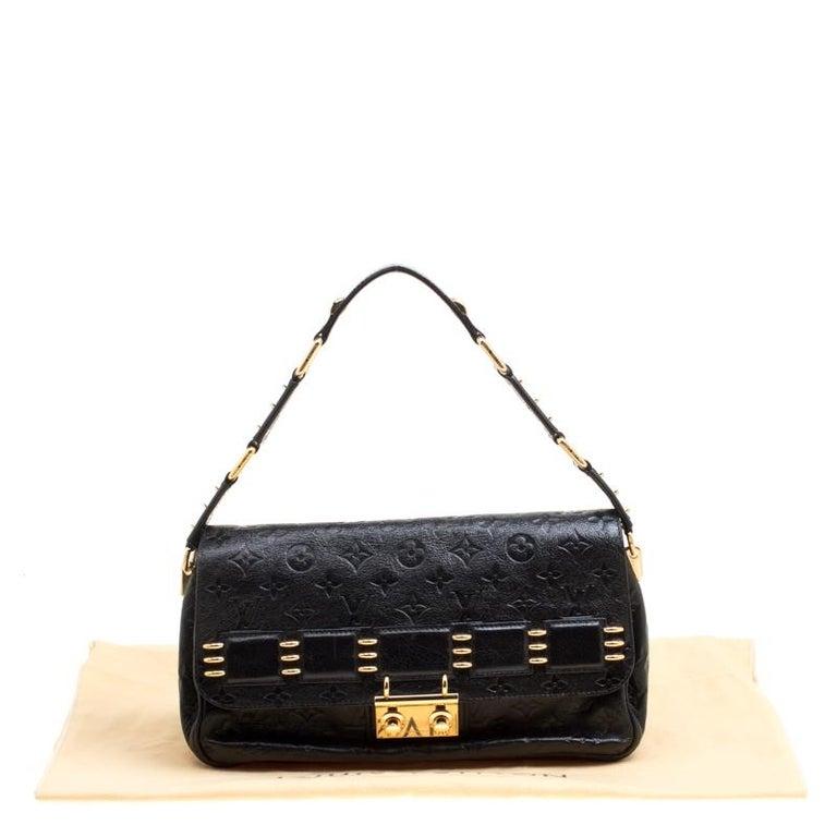 Louis Vuitton Black Monogram Empreinte Leather Rubel Shoulder Bag For Sale 9