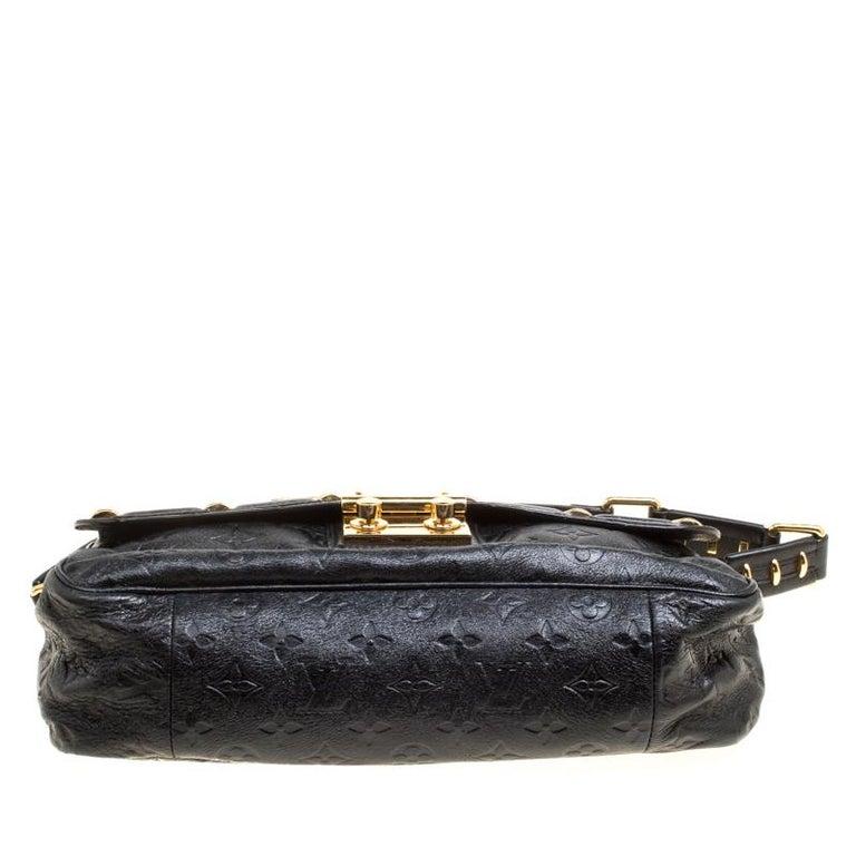 Louis Vuitton Black Monogram Empreinte Leather Rubel Shoulder Bag For Sale 1