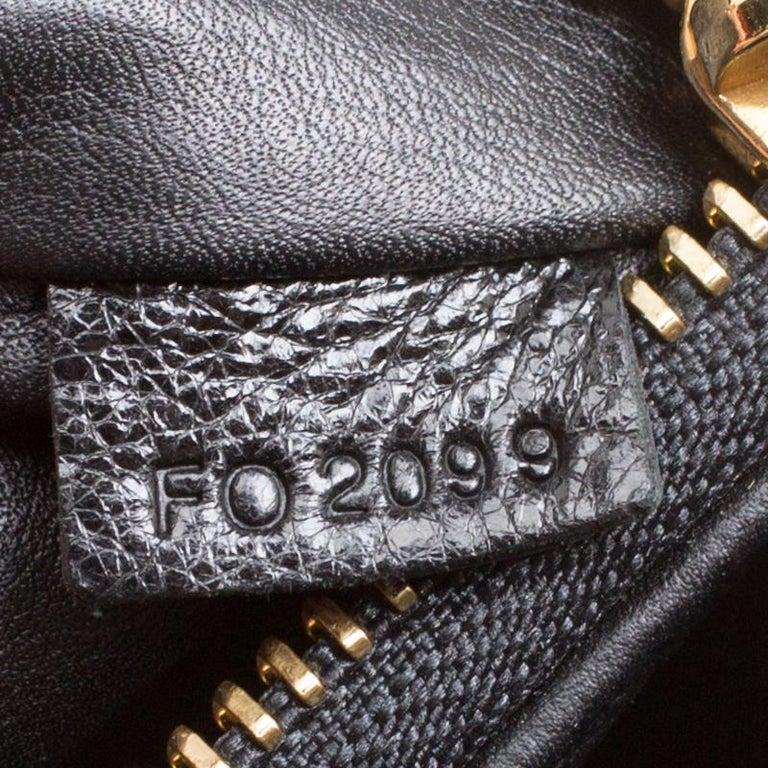 Louis Vuitton Black Monogram Empreinte Leather Rubel Shoulder Bag For Sale 3