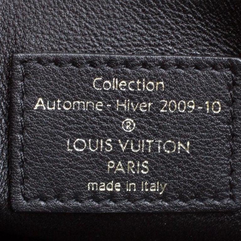 Louis Vuitton Black Monogram Empreinte Leather Rubel Shoulder Bag For Sale 4