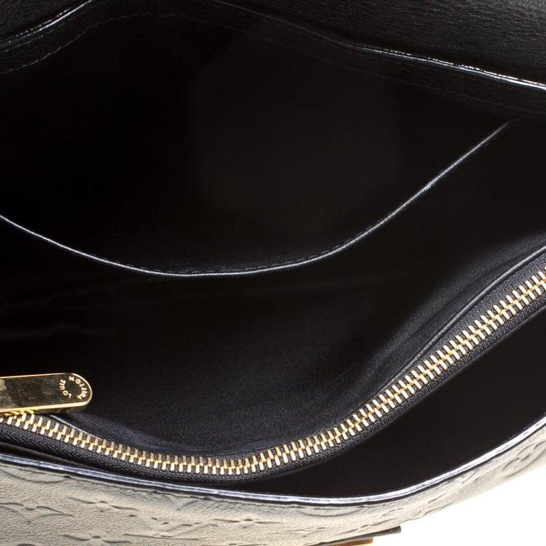 Louis Vuitton Black Monogram Empreinte Leather Rubel Shoulder Bag For Sale 5