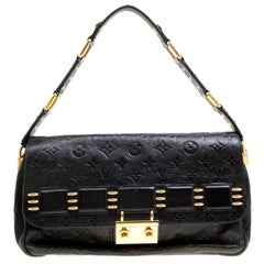 Louis Vuitton Black Monogram Empreinte Leather Rubel Shoulder Bag