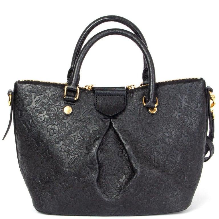 Black LOUIS VUITTON black Monogram Empreinte MAZARINE PM Shoulder Bag For Sale