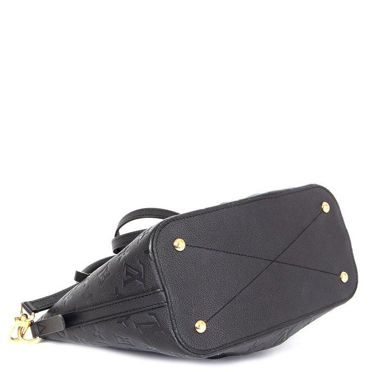LOUIS VUITTON black Monogram Empreinte MAZARINE PM Shoulder Bag In Excellent Condition For Sale In Zürich, CH