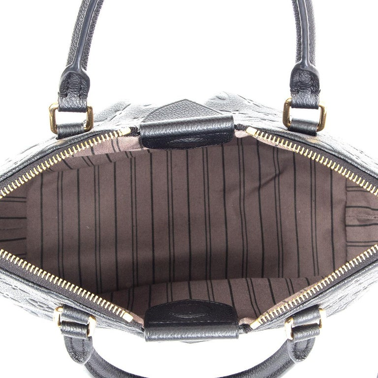 Women's LOUIS VUITTON black Monogram Empreinte MAZARINE PM Shoulder Bag For Sale