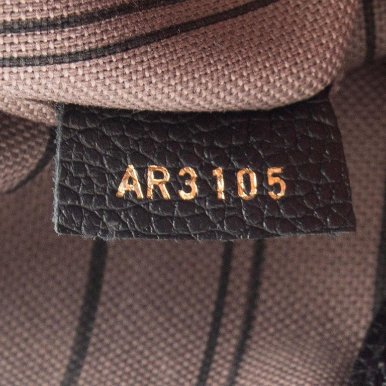 LOUIS VUITTON black Monogram Empreinte MAZARINE PM Shoulder Bag For Sale 1