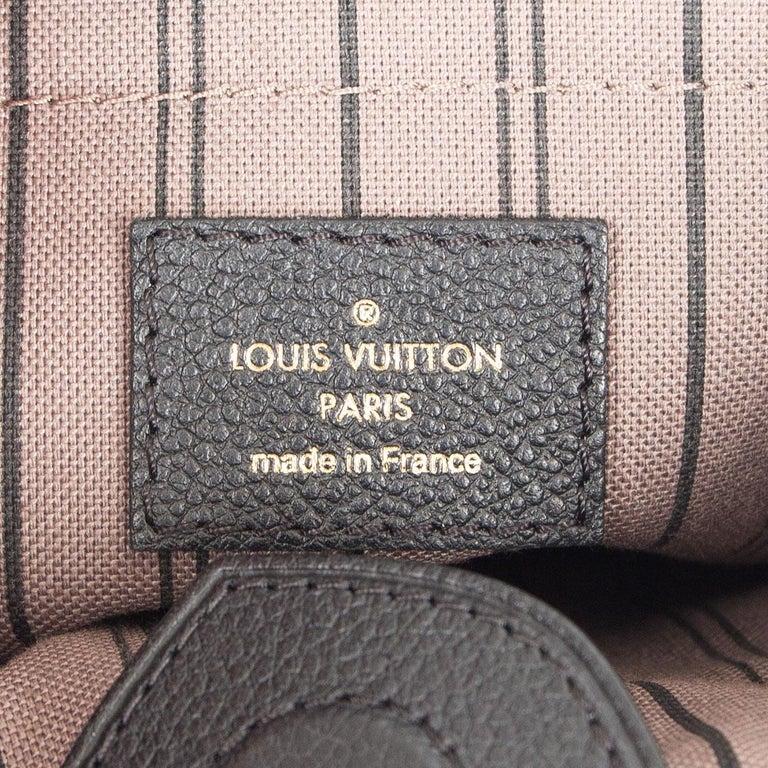 LOUIS VUITTON black Monogram Empreinte MAZARINE PM Shoulder Bag For Sale 2