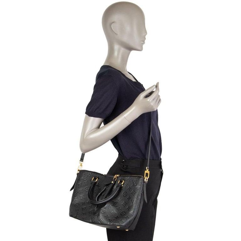 LOUIS VUITTON black Monogram Empreinte MAZARINE PM Shoulder Bag For Sale 3