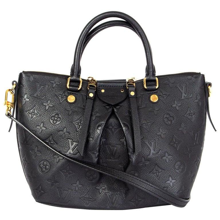LOUIS VUITTON black Monogram Empreinte MAZARINE PM Shoulder Bag For Sale