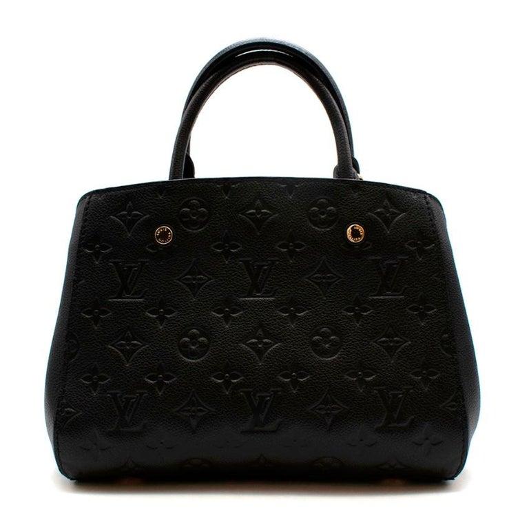 Louis Vuitton Black Monogram Empreinte Montaigne BB Bag In Excellent Condition In London, GB