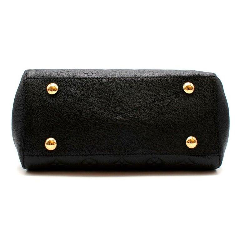 Louis Vuitton Black Monogram Empreinte Montaigne BB Bag 1