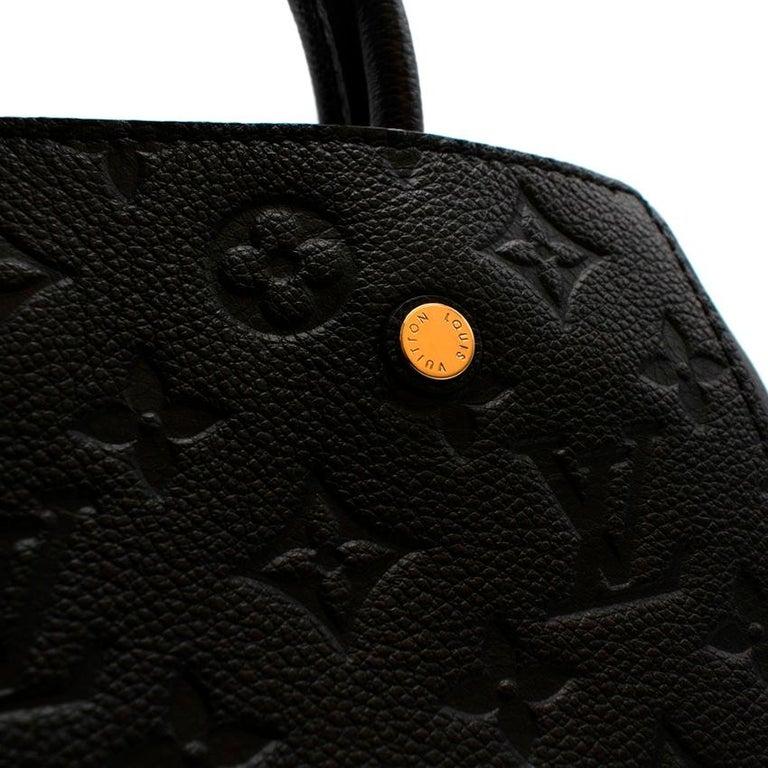 Louis Vuitton Black Monogram Empreinte Montaigne BB Bag 2