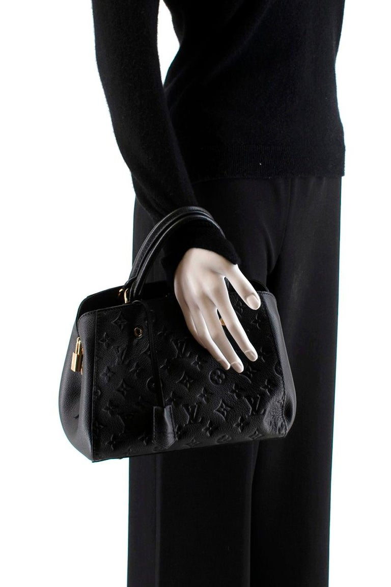 Louis Vuitton Black Monogram Empreinte Montaigne BB Bag 4