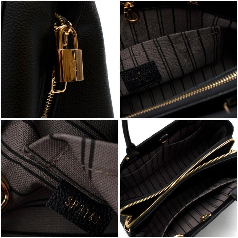Louis Vuitton Black Monogram Empreinte Montaigne BB Bag 5