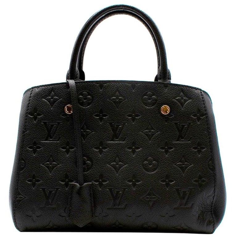Louis Vuitton Black Monogram Empreinte Montaigne BB Bag