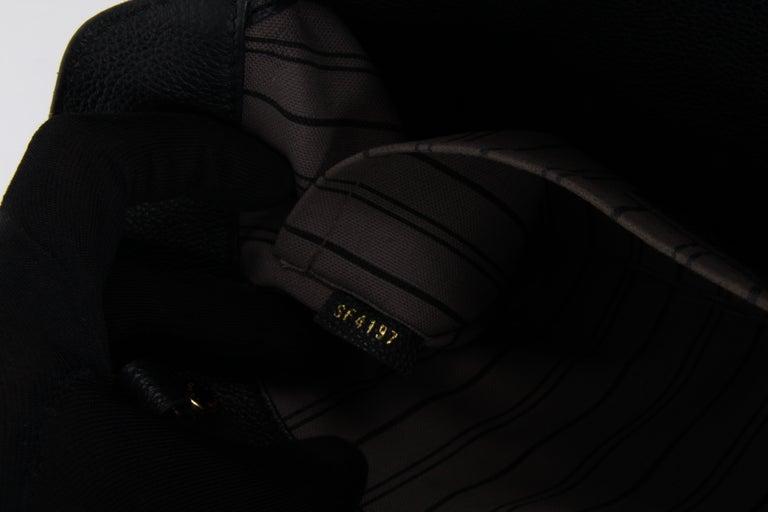 Louis Vuitton Black Monogram Empreinte Montaigne MM Handbag For Sale 7