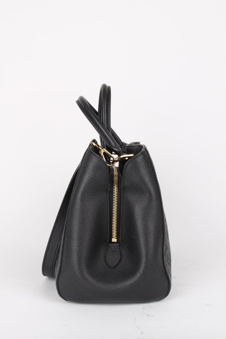 Louis Vuitton Black Monogram Empreinte Montaigne MM Handbag In Excellent Condition For Sale In Baarn, NL