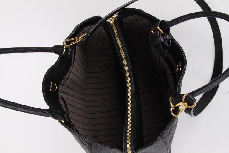 Louis Vuitton Black Monogram Empreinte Montaigne MM Handbag For Sale 4