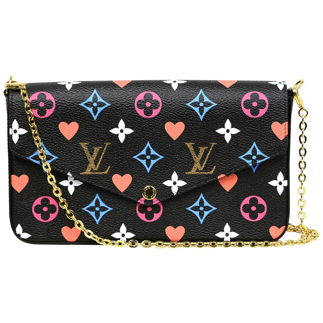 Louis Vuitton Black Monogram Game On Felicie Chain Wallet Crossbody Bag