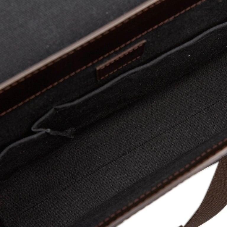 Louis Vuitton Black Monogram Glace Fonzie For Sale 1