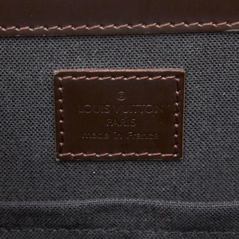 Louis Vuitton Black Monogram Glace Fonzie For Sale 2