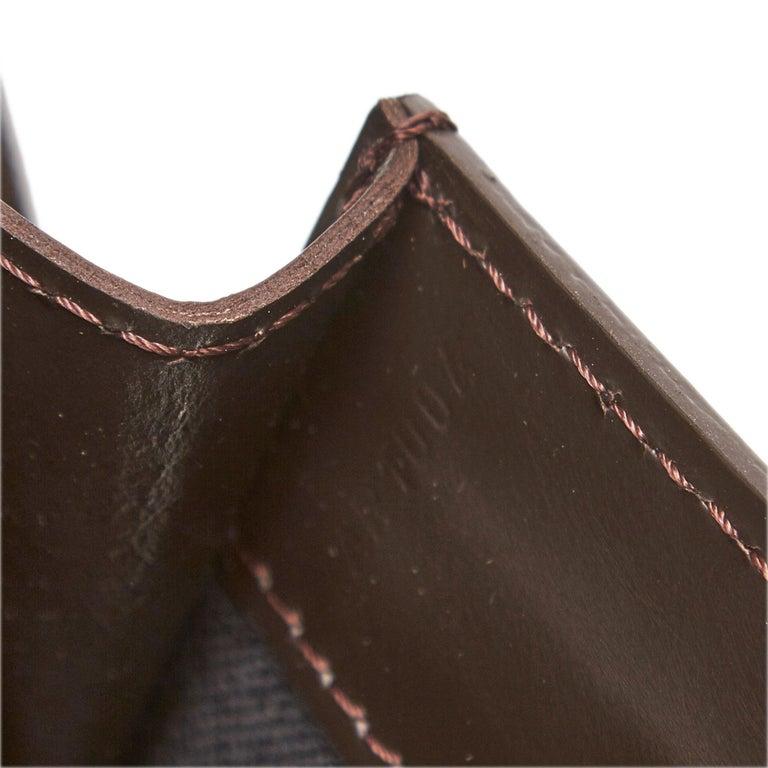 Louis Vuitton Black Monogram Glace Fonzie For Sale 3