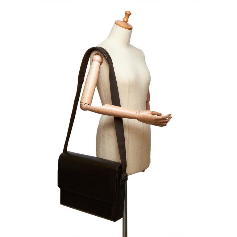 Louis Vuitton Black Monogram Glace Fonzie For Sale 4