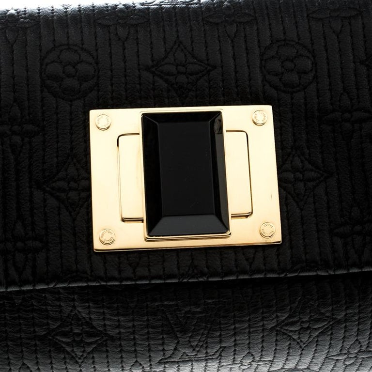 Louis Vuitton Black Monogram Leather Limited Edition Altair Clutch For Sale 7