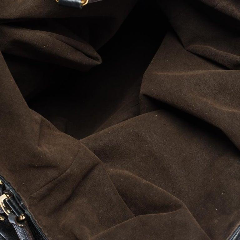 Louis Vuitton Black Monogram Mahina Leather XL Bag For Sale 6