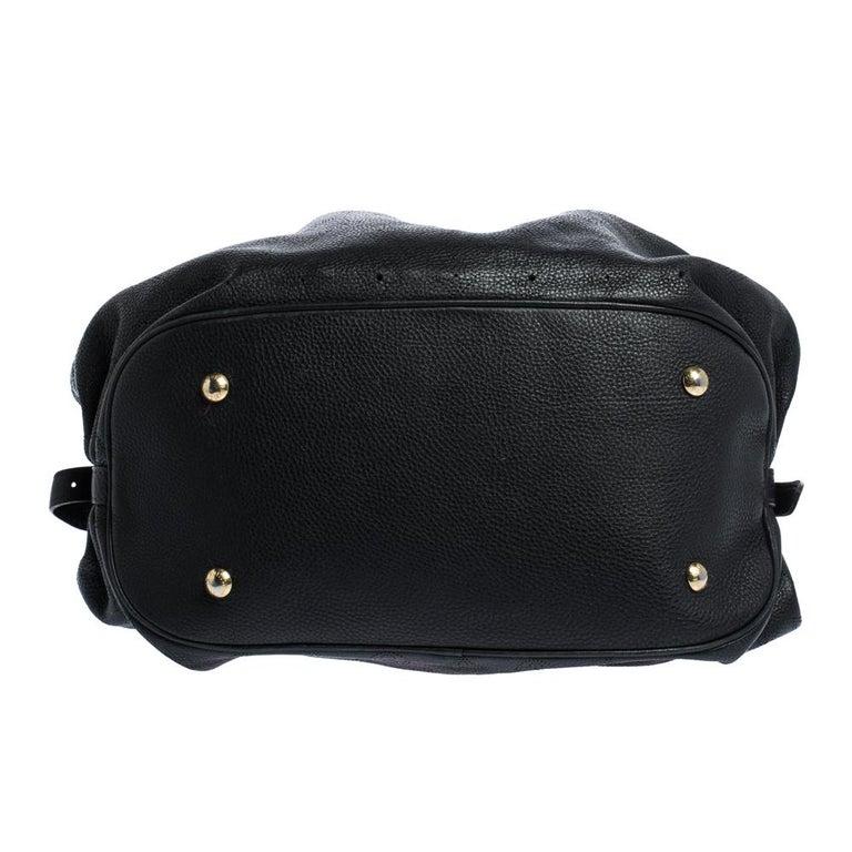 Louis Vuitton Black Monogram Mahina Leather XL Bag For Sale 1
